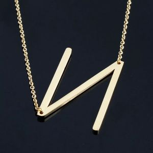 """Lucy"" Letter N Gold Single Inital Necklace"